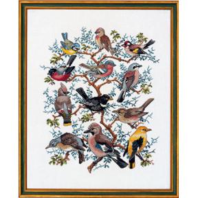 Набор для вышивания Eva Rosenstand Tree with birds 12-266 фото