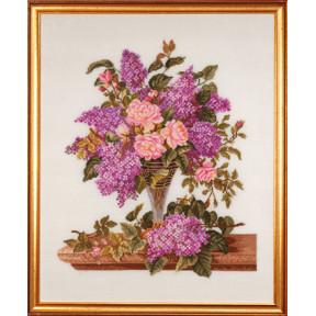 Набор для вышивания Eva Rosenstand Lilac/roses 14-185 фото
