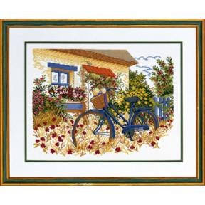 Набор для вышивания Eva Rosenstand Blue bike 14-153 фото