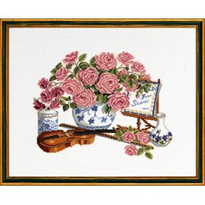Набор для вышивания Eva Rosenstand Roses & fiddle 14-103 фото