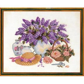 Набор для вышивания Eva Rosenstand Hat & lilac 14-013 фото