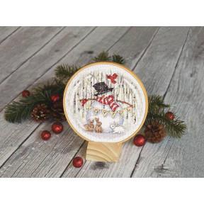 Набор для вышивания Dimensions Joyful Snowglobe 70-08979