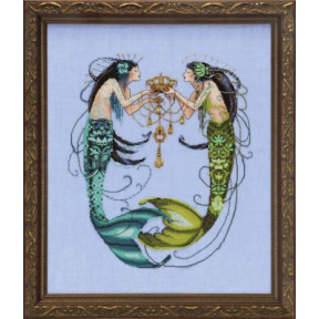Схема для вышивания Mirabilia Designs The Twin Mermaids MD141