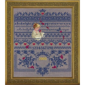Схема для вышивания  Lavender Lace Fallen Roses LL64