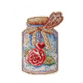 Набор для вышивки крестом Alisena Баночка – Февраль 5556а