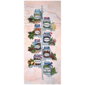 Набор для вышивки крестом Alisena Полочка со специями 1281а