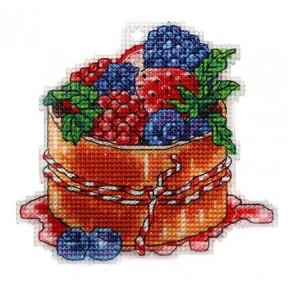 Набор для вышивки крестом Alisena Пироженка – Ягодный десерт 8014а