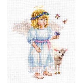Набор для вышивки крестом Алиса Светлый ангел 0-202 фото