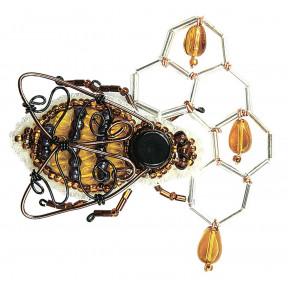 """Набор для изготовления броши Crystal Art """"Мёд в сотах"""" БП-235"""