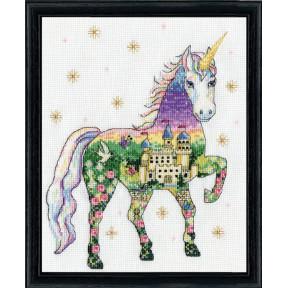 Набор для вышивания Design Works Scenic Unicorn 3374