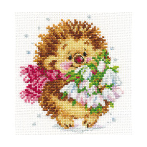 Набор для вышивки крестом Алиса 0-89 Весенний ежик
