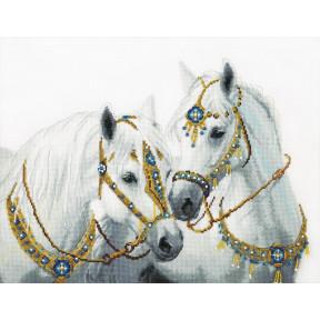 Набор для вышивания крестом  Чарівна Мить Свадебные лошади ВТ-249