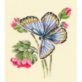 Набор для вышивки RTO Бабочка села на нежный цветок M749