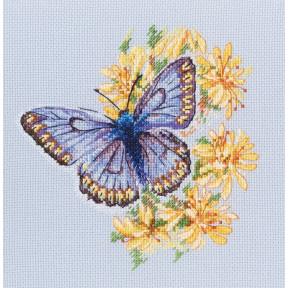 Набор для вышивки RTO Бабочка на цветке M750