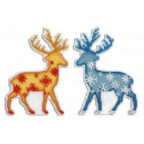 Набор для вышивки крестом МП Студия Северный олень Р-455