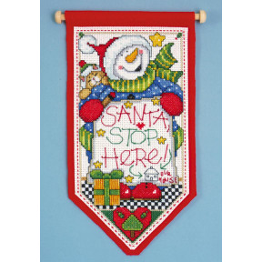 Набор для вышивания Design Works Santa Stop Here 5488