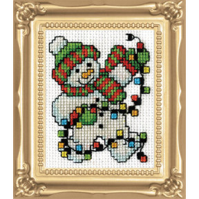 Набор для вышивания Design Works Snowman Lights 517