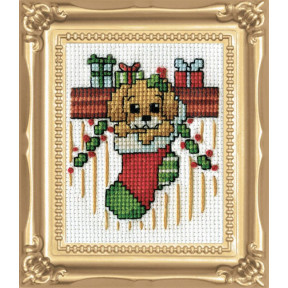 Набор для вышивания Design Works Puppy in Stocking 510