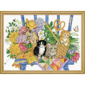 Набор для вышивания Design Works Garden Kittens 3268