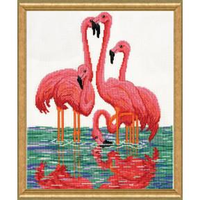 Набор для вышивания Design Works Flamingos  3272