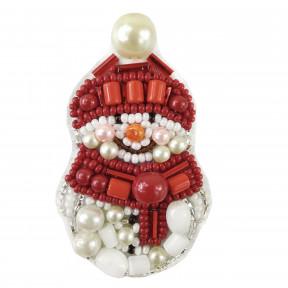 """Набор для изготовления броши Crystal Art """"Снеговик"""" БП-248"""