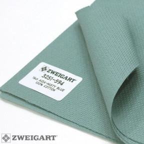 Канва Zweigart 16 (50 см  х 50 см ) туманно-синий 3751/594