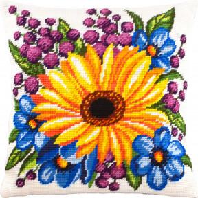 Набор для вышивки подушки Чарівниця  Подсолнух и цветы V-277