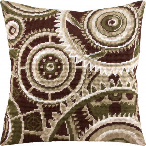 Набор для вышивки подушки Чарівниця Часы V-289