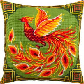 Набор для вышивки подушки Чарівниця Китайская птица V-292
