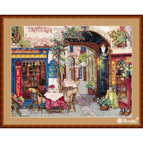 Набор для вышивания крестом Мережка Кафе в Вероне К-161