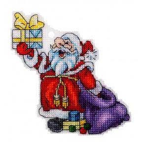 Набор для вышивки крестом Alisena Дедушка Мороз 8028а
