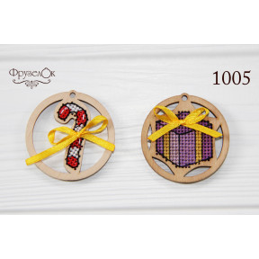 """Набор для вышивки крестом на деревянной основе ФрузелОк """"Украшения"""" 1005"""