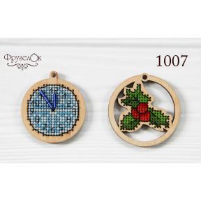 """Набор для вышивки крестом на деревянной основе ФрузелОк """"Украшения"""" 1007"""
