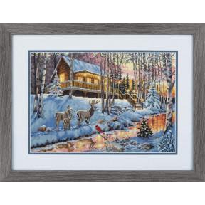 Набор для вышивания Dimensions  Winter Cabin 08976
