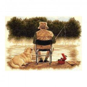 Набор для вышивания Dimensions Fishing Buddies 35136