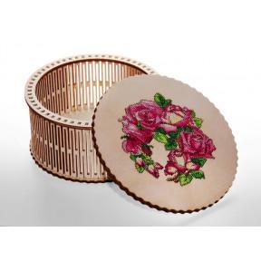 Шкатулка под вышивку крестиком -розы с нитками Alisena 5570а