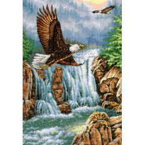 Набор для вышивания крестом Classic Design Над водопадом 4484