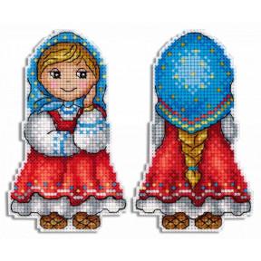 Набор для вышивки крестом МП Студия Внучка Машенька Р-469