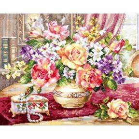 Набор для вышивки крестом Алиса Розы в гостиной 2-50 фото