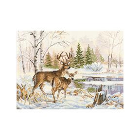 Набор для вышивки крестом Алиса У лесного озера 3-28