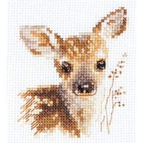Набор для вышивки крестом Алиса Животные в портретах. Олененок 0-195