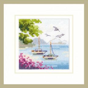 Набор для вышивки крестом Алиса Вид на море 0-203 фото