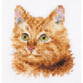 Набор для вышивки крестом Алиса Животные в портретах. Рыжий кот