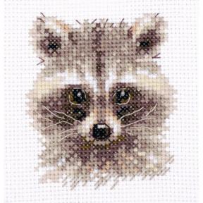 Набор для вышивки крестом Алиса Животные в портретах. Енотик