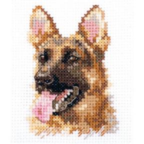 Набор для вышивки крестом Алиса Животные в портретах. Овчарка