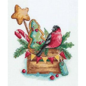 Набор для вышивки крестом Panna Гостинцы от снегиря РТ-7164