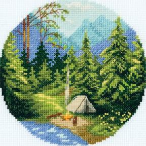 Набор для вышивки крестом Panna Утро в лесу ПС-7075