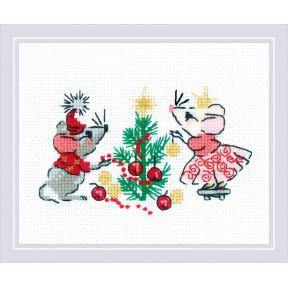 """Набор для вышивки крестом Риолис """"Ожидание праздника"""" 1823"""