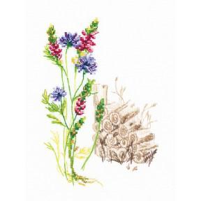 Набор для вышивки крестиком RTO Цветущие травы M778