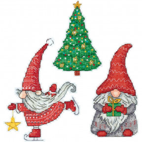 Набор для вышивки крестом Panna Новогодние гномики IG-7179